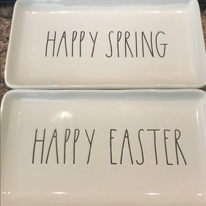 Rae Dunn Happy easter/spring trays